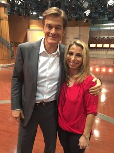 Dr. Oz taping a segment with Stacey Chillemi