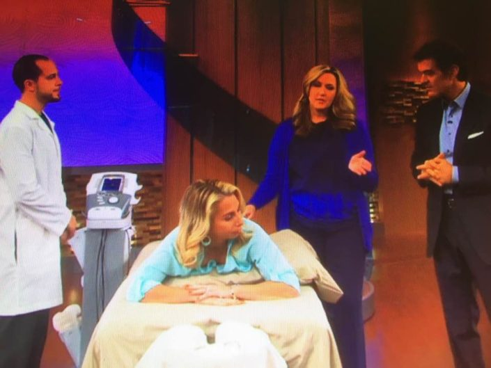 On the Dr. Oz Show taping a segment on relieving back pain