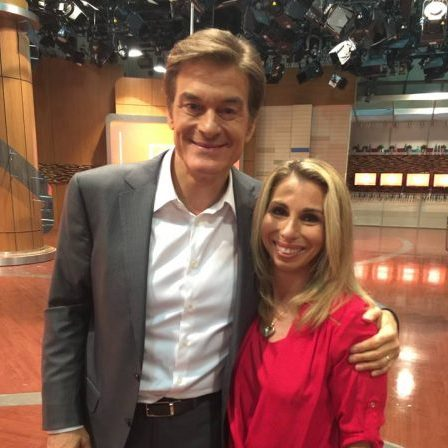 Dr. Oz & Stacey Chillemi after taping a segment