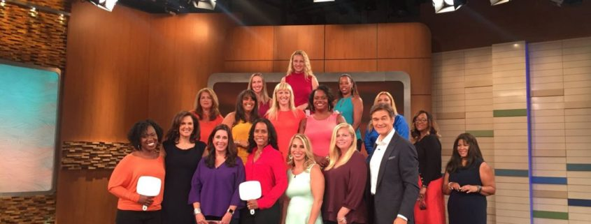On the Dr. Oz Show taping a segment on anti-aging