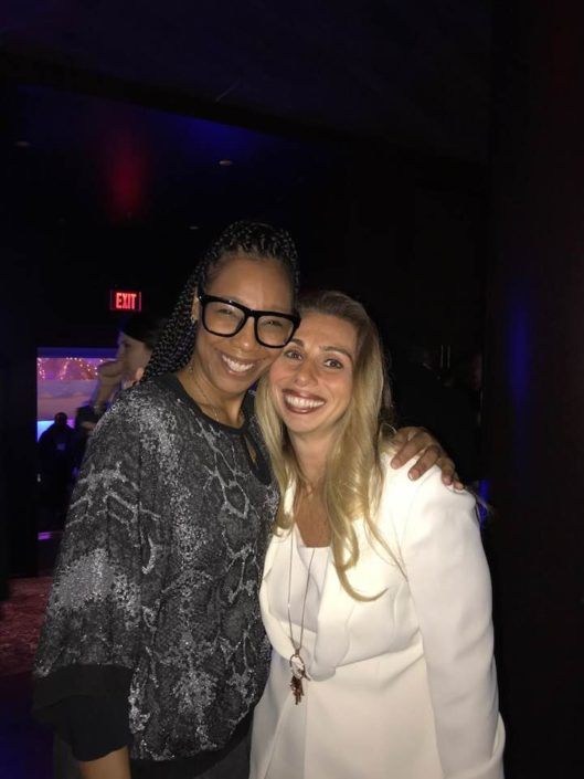 Angels Of Epilepsy Founder Natalie Y. Beavers with Stacey Chillemi